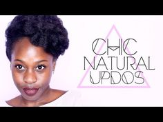 These are surprisingly easy!! I'm excited about that lol  3 Chic Natural Hair Updos for Natural Hair | Curly Nikki | Natural Hair Care