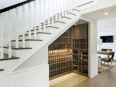 wine cellar under the stairs
