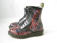 Vintage DOC MARTEN Made in England U.S.  Flag by TimeBombVintage