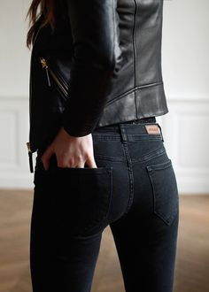 """We love madewell skinnies. you can get black, dark wash, whatever. and in all different rises. We love the high rise for you with cropped tops. or you can do a low rise with soft clingy layers.  Madewell skinny skinny 9"""" mid rise. ❤️ all colors."""