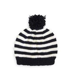 419af8dd062e1 Hand Knitted Black   Classic Cream Beanie by Frankie   Ava