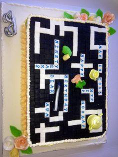 90th birthday crossword cake  Www.dappercakes.co.uk