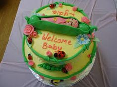 Image result for baby shower cake girl