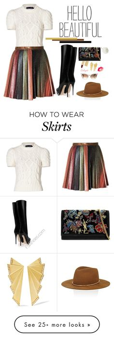 """Hello Beautiful!"" by gabyidc on Polyvore featuring Polo Ralph Lauren, Marco de Vincenzo, Lipstick Queen, Yves Saint Laurent, Janessa Leone, Ileana Makri, Gucci and Charlotte Russe"