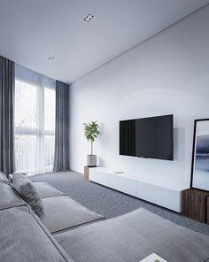 Living Room Tv, Flat Screen, Villa, Interior Design, Home Decor, Houses, Blood Plasma, Nest Design, Decoration Home