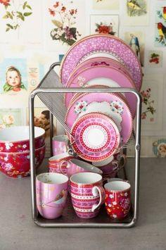 Les trouvailles déco de vanina, vaisselle, vaisselle rose, Pip studio