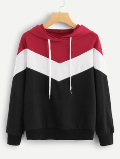 To find out about the Color Block Chevron Hoodie at SHEIN, part of our latest Sweatshirts ready to shop online today! Casual Outfits, Cute Outfits, Fashion Outfits, Fashion Fashion, Fashion Ideas, Vintage Fashion, Sweat Shirt, Autumn Clothes, Mode Streetwear