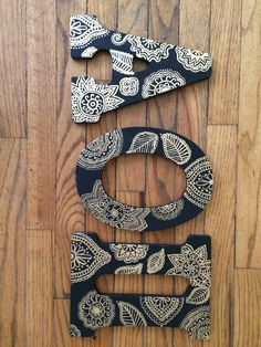 I like the pattern for letters