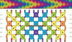 Embroidery Friendship Bracelets Friendship bracelet pattern 3302 by mikkomix String Bracelet Patterns, Embroidery Floss Bracelets, Diy Bracelets Patterns, Diy Bracelets Easy, Thread Bracelets, Friend Bracelets, Summer Bracelets, Bracelet Crafts, Bracelet Designs