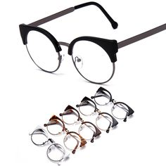 Find More Eyewear Frames Information about Women cat eye nerd glasses Computer Goggles half Frame Eyeglasses Clear lens eyewear Oculos de grau feminino masculino F15010,High Quality glasses factory,China glasses optical Suppliers, Cheap glasses accessories from Yiwu Balance Glasses Trade Co., Ltd. on Aliexpress.com