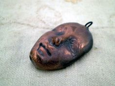 Raku Face Bead, Ceramic Beads, Pottery Beads, Boho Beads, Hippie Beads, Rustic Beads by spinningstarstudio on Etsy