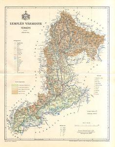 1897 Original Antique Dated Map of Zemplén by CabinetOfTreasures