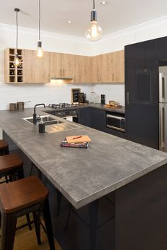 flat pack kitchens gallery - a rustic paradise kitchen benchtop