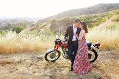 Adrienne Gunde Photography | Los Angeles Orange County Wedding Photographer » vintage motorcycle engagement