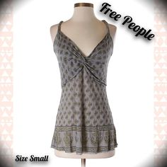 FREE PEOPLE BRAIDED BACK TANK TOP SHIRT SMALL  This FREE PEOPLE tank is gorgeous! Free people, racer back tank with a braided rope style back! Pretty color, size is a small. Last picture shows a close up of the design. Bundle and save 20%! Follow my closet new items added daily! HAPPY POSHING!  Free People Tops Tank Tops