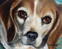 Beagle Prints in all sizes and surfaces available! come follow us at www.facebook.com/hangingthemoon for more! Custom paintings available