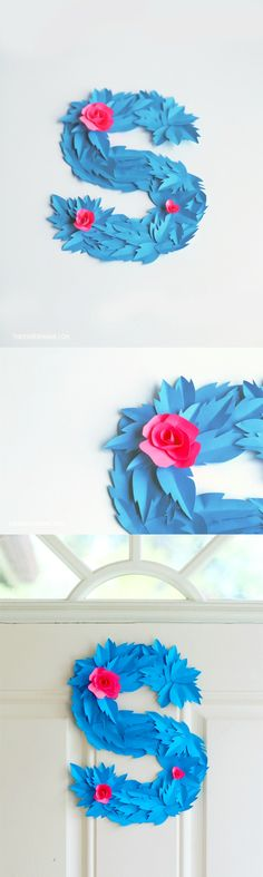 Learn how to make a decorative monogram wreath in the colors of your choice - with paper!