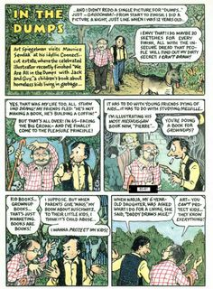 In Art Spiegelman visited Maurice Sendak and drew the experience. Now, The New Yorker has unlocked the archive to commemorate Sendak, who passed away today at the age of Art Spiegelman, Maurice Sendak, Children's Picture Books, A Cartoon, The New Yorker, Comic Strips, Yorkie, Childrens Books, Book Art