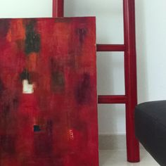 my painting and my sister's red ladder
