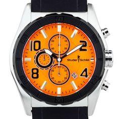Studer Schild Men's Carver chronograph watch, strap, luminescent hands Online Watch Store, Watches For Men, Men's Watches, Chronograph, Omega Watch, Jewelry Watches, Best Deals, Hands, Accessories
