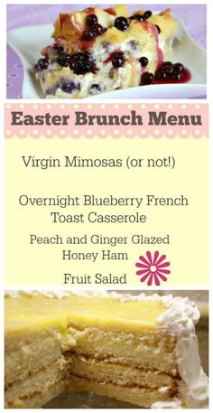 An Easter Brunch Menu: complete with recipes, decor and table setting ideas.