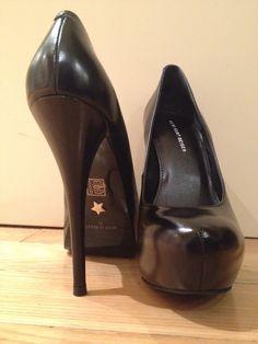 Kurt Geiger black high hills shoes