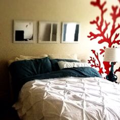 Coral wall paint