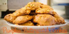 Pumpkin-Butterscotch-Cookies-Header Brown Butter, Brown Sugar, Butterscotch Cookies, Onion Rings, Favorite Holiday, Rolls, Pumpkin, Treats, Baking