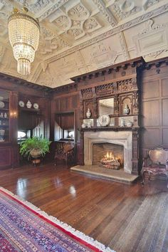 1892 The Goodman Mansion In Chicago Illinois — Captivating Houses Old Mansions Interior, Mansion Interior, Victorian Interiors, Victorian Homes, Vintage Homes, House Interiors, Old Mansions For Sale, Barrel Ceiling, Old House Dreams
