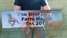 Farm Sign Ranch Sign Custom Sign Metal Sign by GrizzlyCustomSteel, $65.00