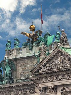 Parks, Kaiser Franz, Kunsthistorisches Museum, Vienna, Statue Of Liberty, Bronze, City, Travel, Arquitetura
