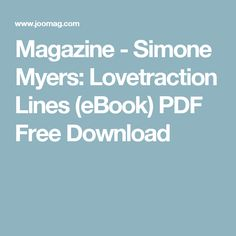 Magazine - Simone Myers: Lovetraction Lines (eBook) PDF Free Download