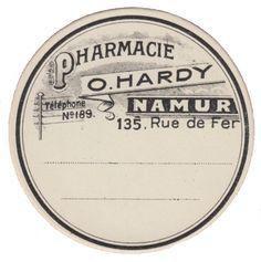 Etiqueta farmaceutica de estilo vintage