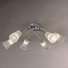 Buy John Lewis 6 Arm Trumpet Ceiling Light, Chrome Online at johnlewis.com