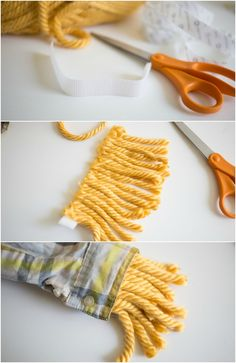 "How to make ""straw cuffs"" for an Easy No Sew Scarecrow Costume!"