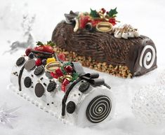 Christmas ice cream log cakes from Swensen's, Singapore