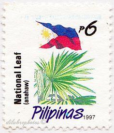 Philippines.  NATIONAL LEAF, ANAHAW.  Scott 2223 A610j, Issued 1996 Nov 21, 6. /ldb.
