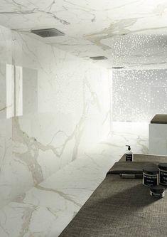 Calacatta maximum Marmi maximum, white marble/granite effect porcelain tiles Beautiful Bathrooms, Beautiful Kitchens, Outdoor Porcelain Tile, Porcelain Tiles, Adams Homes, Bathroom Installation, Grand Format, Wall And Floor Tiles, Countertops