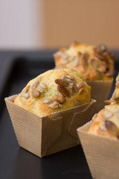 Photo Petits Muffins Salés au Chèvre, Menthe Fraiche et Graines