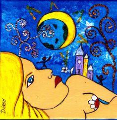 Affiche signée 'l'une est blonde et lune est rousse ... ... ... : Photos par dinah-hascoet