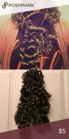 Scarf Black and gold chic scarf Accessories Scarves & Wraps