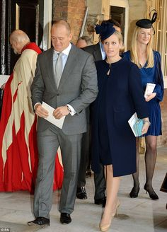 Other family contenders include former international rugby star Mike Tindall, who is married to Zara Phillips (pictured together), the only royal to be named as a godparent to George