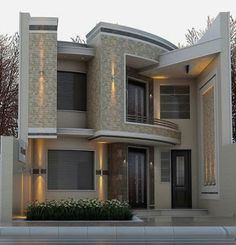 There are many modern residential house design ideas that we can discuss. Here we have outlined some key examples of modern residential house design ideas Classic House Design, House Front Design, Modern House Design, Exterior Wall Design, Facade Design, Architecture Design, Style At Home, Bungalow Haus Design, Modern House Plans