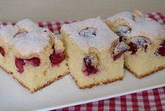6 ingrediencí a vynikající ovocný koláč je na světe. Třešně, maliny, borůvky nebo libovolné ovoce podle chuti. Těsto nadýchané, jemné a křehoučké.