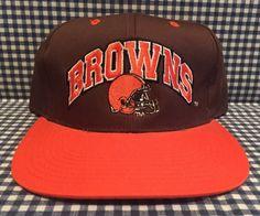 a2b43ba97 Vintage Cleveland Browns Adjustable SnapBack Hat Drew Pearson Brown Team NFL  VTG