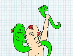 """Check out new work on my @Behance portfolio: """"More snake love"""" http://be.net/gallery/33726626/More-snake-love"""