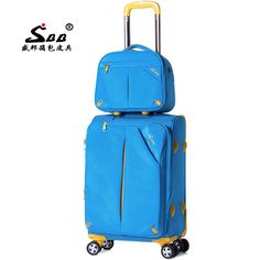 88.03$  Buy here - http://alip1w.worldwells.pw/go.php?t=32763287931 - Wholesale surbana picture box luggage female universal wheels trolley luggage travel bag cosmetic12 202428 two pieces sets
