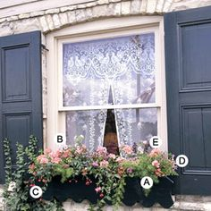 Love this...maybe I should add those curtains to my new small front window!