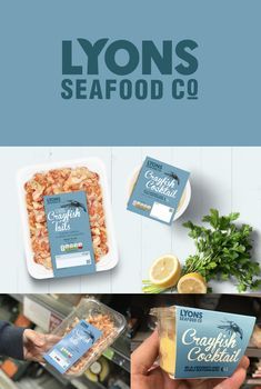 We created a new logo for Lyons Seafood Co which encompasses a fishtail within the letter 'Y'. This has proven to be a 'nice little touch' and has worked well across all brand touchpoints.  For the seafood packaging design, we adopted retro styling using lino print illustrations, hand-drawn typography and on-trend colour pallet.  In a category that is otherwise full of dated design, the new Lyons Seafood Co branding is unique and clearly conveys the quality of products.