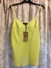 M&S SPEZIALE PER UNA 100% SILK LUXURY FEEL ladies Cami Vest Top UK14 BNWT Lime